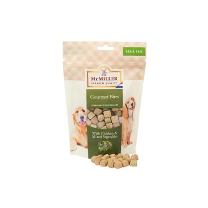 Mr. Miller piškoti - kocke s piščancem in zelenjavo - 250 g