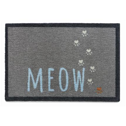 Preproga Meow, siva - 50 x 75 cm