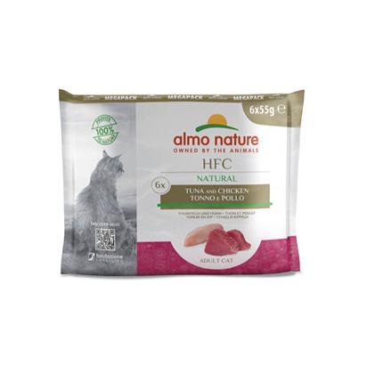 Almo Nature HFC Natural Megapack - tuna in piščanec - 6 x 55 g