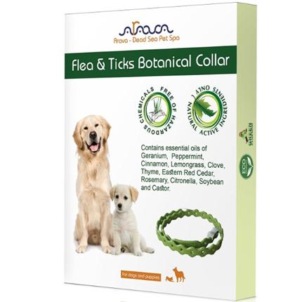 Arava Botanical ovratnica z eteričnim oljem za pse in pasje mladiče