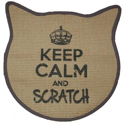 Praskalnik preproga Keep Calm maca, črna - 43 x 43 cm