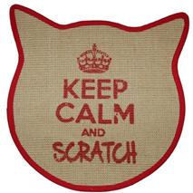 Praskalnik preproga Keep Calm maca, rdeča - 43 x 43 cm