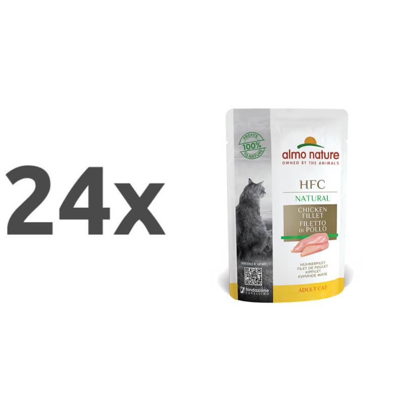Almo Nature HFC Classic - piščančji file - 55 g 24 x 55 g