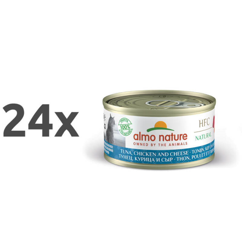 Almo Nature Legend – tuna, piščanec in sir – 70 g 24 x 70 g
