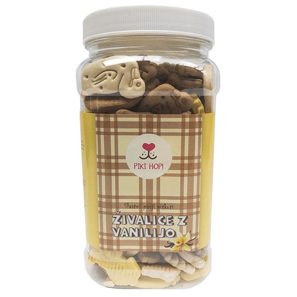 Piki Hop piškoti za pse živalice z vanilijo - 450 g