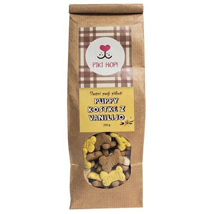 Piki Hop piškoti za pse Puppy kostke z vanilijo - 250 g