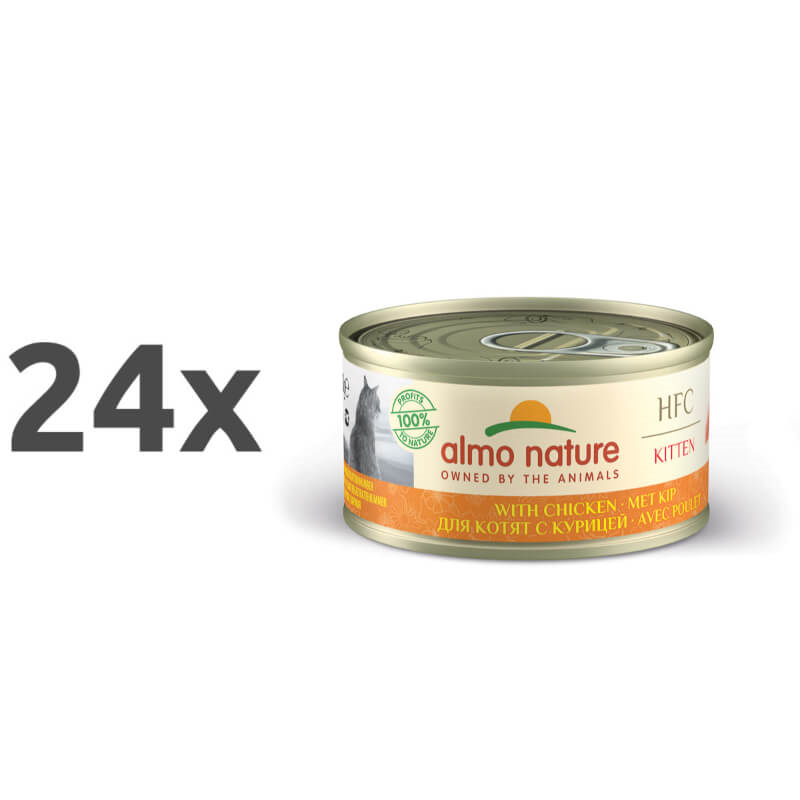 Almo Nature HFC Legend Kitten – piščanec – 70 g 24 x 70 g