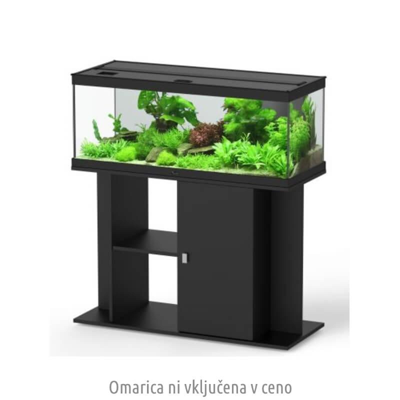 Aquatlantis akvarij Style LED 150, črn - 150 x 45 x 54 cm (365 l)