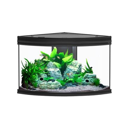 Aquatlantis akvarij Fusion Corner LED, črn - 100 x 75 x 60 cm (190 l)