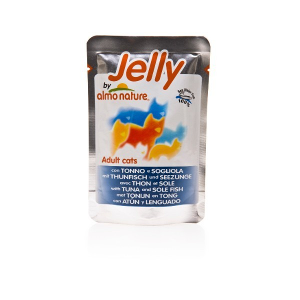 Almo Nature Jelly – tuna in morski list