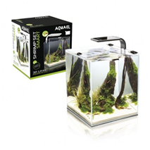 Aquael akvarij Shrimp Set Smart 2, črn - 29 l, 29x29x35 cm