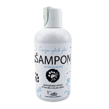 Cvetka bio zeliščni šampon za kužke Timi (za svetlo dlako)