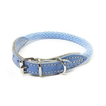 Carbone Bianca ovratnica iz vrvi (fi 12 mm), svetlo modra - različne dolžine