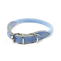 Carbone Bianca ovratnica iz vrvi (fi 7 mm), svetlo modra - različne dolžine