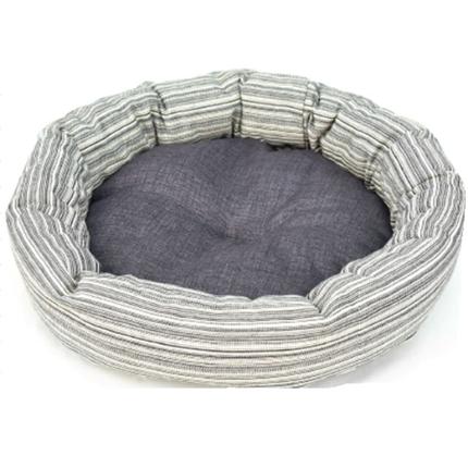 Leopet okroglo ležišče Ciambella, sivo s črtami