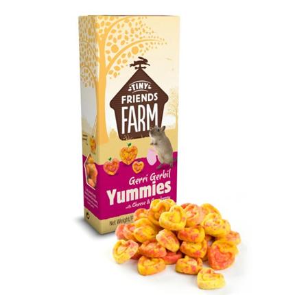 Tiny Friends Farm priboljšek za skakače Gerri Yummies - sir in brusnice