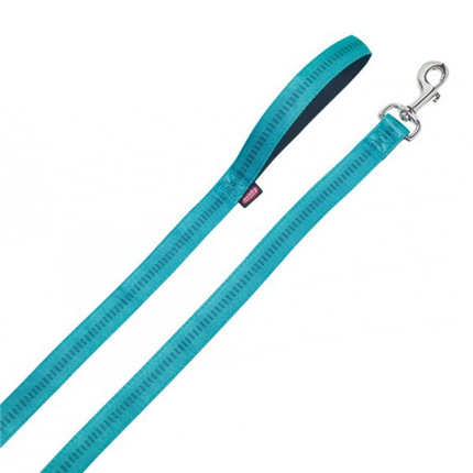Nobby Soft Grip povodec - turkizen - 120 cm