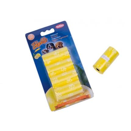 Nobby drečke (vrečke za iztrebke), rumene z vonjem po limoni - 4 x 20 kos