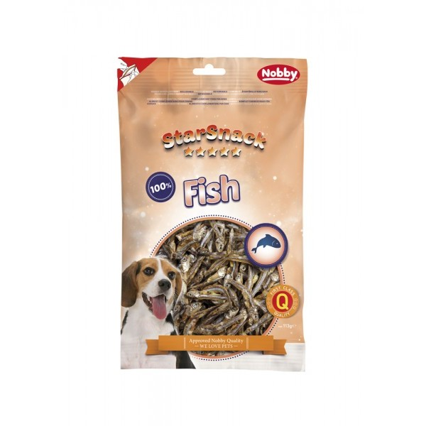 Nobby Starsnack Fish, sušene sardele - 113 g
