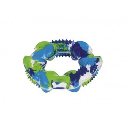 Nobby igrača Camouflage iz gume, obroč - 12 cm