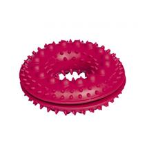 Nobby igrača guma obroč z bodicami za posladke, rdeča - 10,5 cm