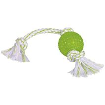 Nobby igrača TPR žoga in vrv, zelena - 44 cm