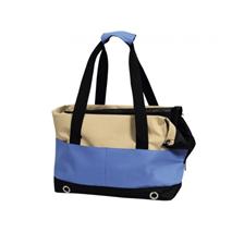 Nobby torba za psa Salta, bež/modra - 40 x 22 x 28 cm