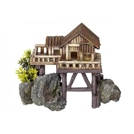 Nobby akvarijski dekor hiša na stebrih - 23 x 12,3 x 17 cm