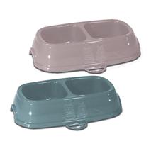 Stefanplast posoda Break, dvojna - roza/sivo modra - 21 x 13 x 5 cm