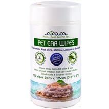 Arava Ear Wipes čistilni robčki za pasja in mačja ušesa - 9x12 cm/100 robčkov