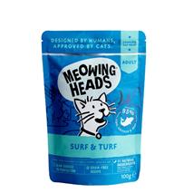 Meowing Heads Supurrr Surf & Turf - riba, piščanec in govedina - 100 g
