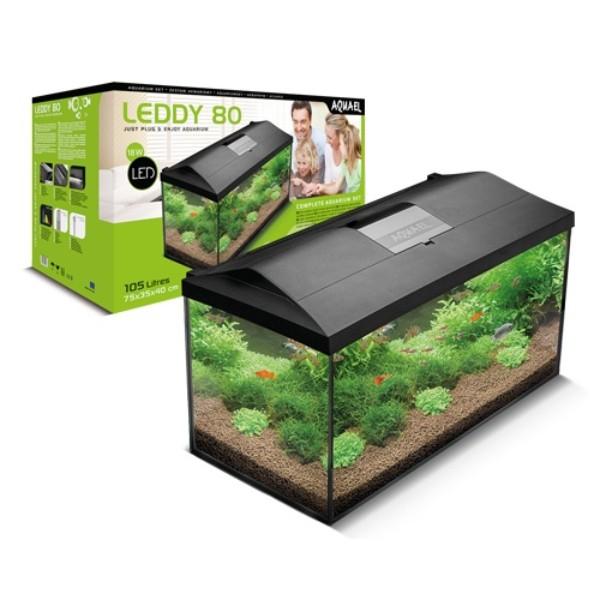Aquael LED akvarijski set Leddy 75, črn