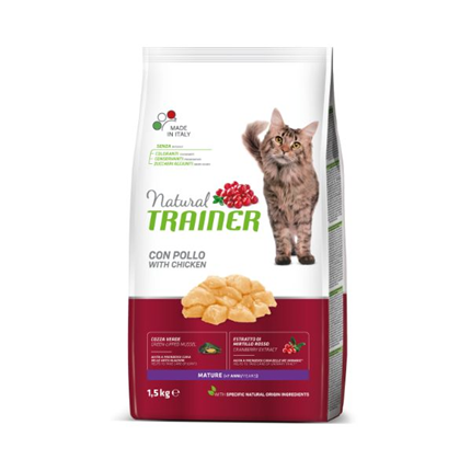 Trainer Natural Cat Mature +7 - piščanec