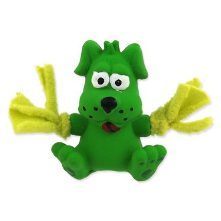 Dog Fantasy igrača iz lateksa, zelen kuža - 7 cm