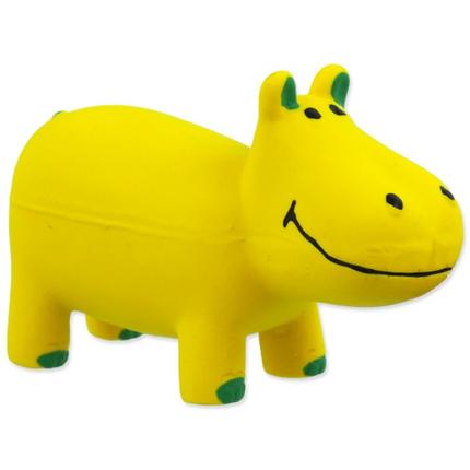 Dog Fantasy igrača iz lateksa, rumen hippo - 10 cm