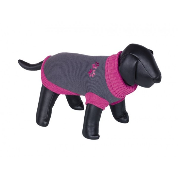 Nobby pulover Paw, siv-roza 40 cm