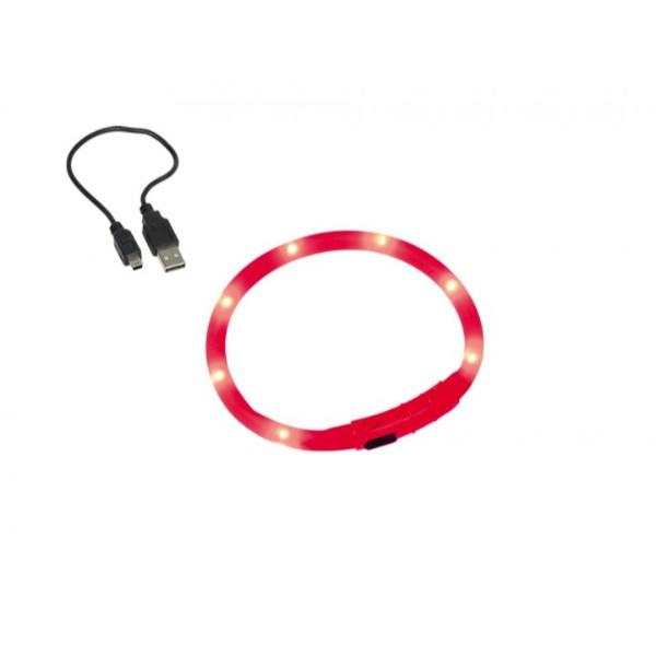 Nobby varnostna LED ovratnica, rdeča 70 cm