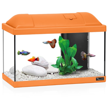 Aquatlantis akvarij Biofun 40, oranžen - 41,5 x 20,5 x 30 cm