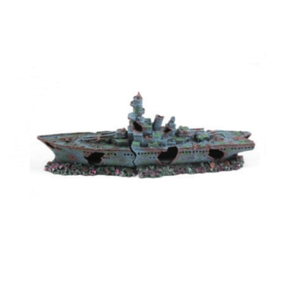 Aquatlantis dekor, velika ladja rušilec - 68 x 15,5 x 27 cm