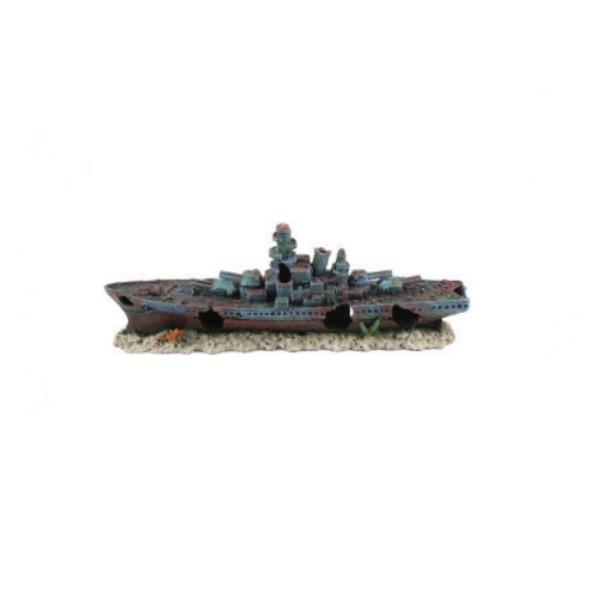 Aquatlantis dekor, mala ladja rušilec - 47 x 9,5 x 17 cm