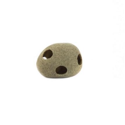 Aquatlantis skrivališče Round Stone z luknjami - 14,5 x 9,5 x 10 cm