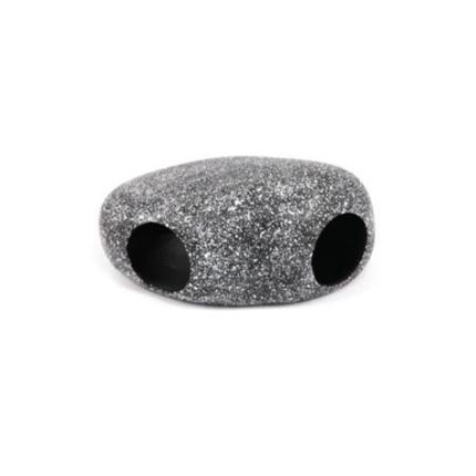 Aquatlantis skrivališče Black Round Stone - 18,5 x 13 x 9 cm