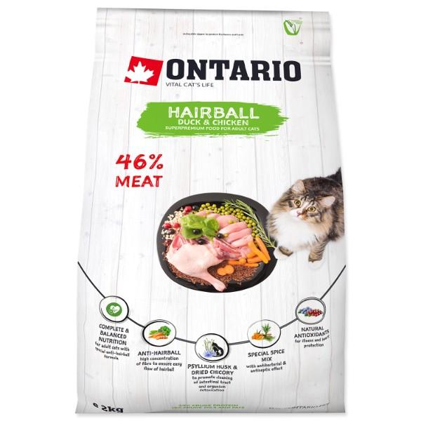 Ontario Cat Hairball - raca in piščanec 2 kg