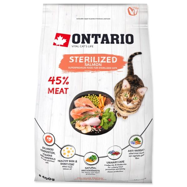 Ontario Cat Sterilised - losos 400 g