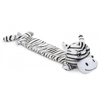 Beeztees igrača pliš zebra Dux, črno bela - 53 cm