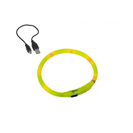 Nobby varnostna LED ovratnica, rumena