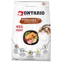 Ontario Cat Sterilised +7 - piščanec in losos