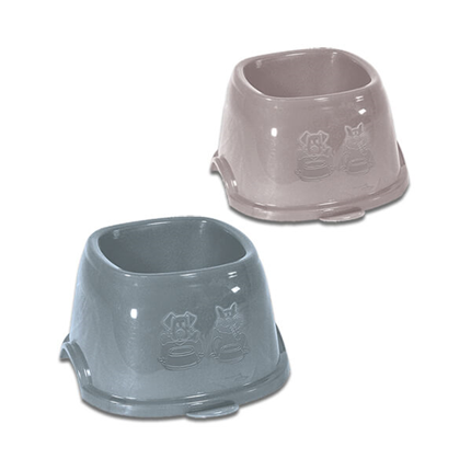 Stefanplast posoda Break, za dolgouhe pse - roza/sivo modra - 19 x 19 x 11 cm
