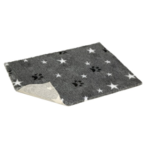 Vetbed nedrseča podloga - siva, zvezdice in tačke - širina 75 cm (cena za m)