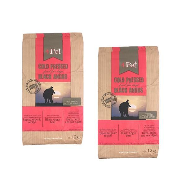 4Pet hladno stiskana hrana - Black Angus govedina 2 x 12 kg